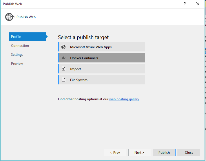 Local Windows Docker deployment with ASP NET 5 and Docker Toolbox